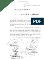 Sentencia CSJN desestimatoria de la prorroga de la cautelar del Grupo Clarin