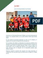 Motril Liga Escolar 2013 Cronica Jornada 1