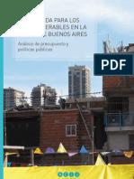 Sin vivienda para los más vulnerables en la Ciudad de Buenos Aires.