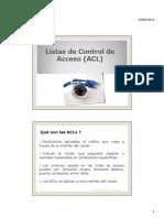 ACL-Listas de Control de Acceso