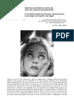 FENOMENOLOGÍA ESPECULATIVA DE LOS OJOS  DE VANESSA ADOLESCENTE