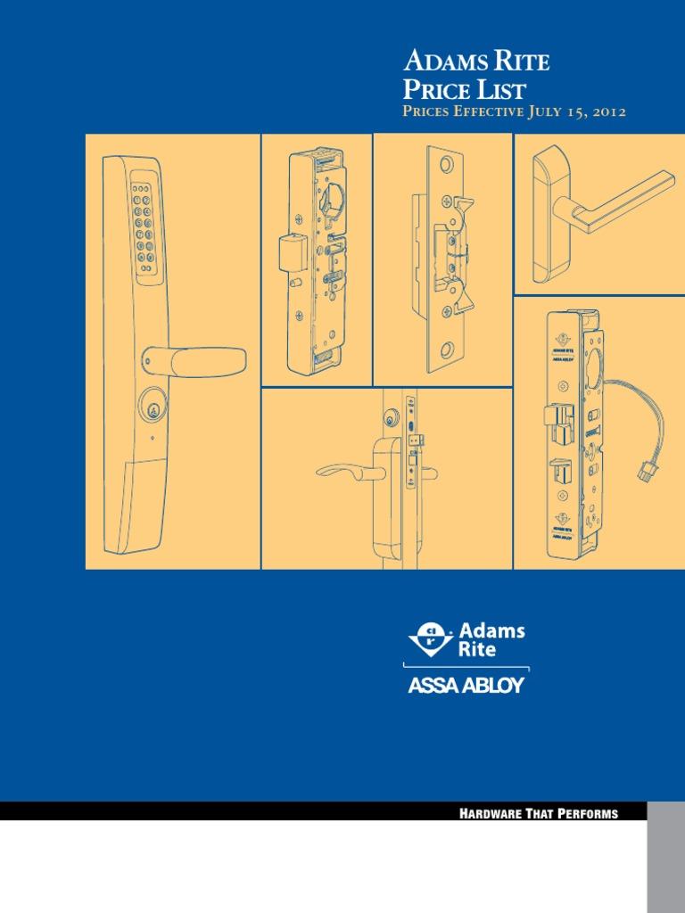 Adamsrite 7 2012 Door Lock Security Device Bea Maglock Wiring Diagram