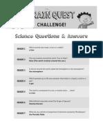 BQ Challenge Q+a Science