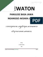 Wewaton Panulise Basa Jawa Nganggo Aksara Jawa ( Padmasoekotjo )