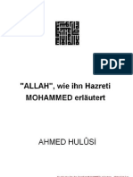 ALLAH, Wie Ihn Hazreti MOHAMMED Erläutert