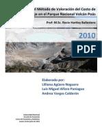 Aplicación del Método de Valoración Costo de Viaje en el Parque Nacional Volcán Poás.