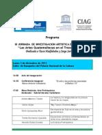 III Jornada de Investigación Artística. Programa.