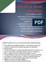 EDUCACIÓN EN LA SELVA DEL PERÚ