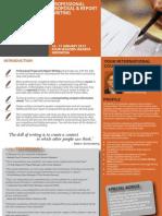 Professional Proposal & Report Writing 16 - 17 January 2013 Jakarta