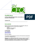 YesCFO Previous Newsletter