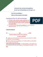 Aulan- T de Natalidade T de Fecundidade,  ISF e IRGerações