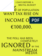 88%  want tax increase for incomes over €100,000. RED C Poll ignored
