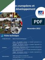 Les jeunes européens et l'aide au développement_Novembre 2012