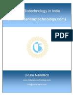 Nanobiotechnology in India