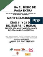 Manifestaciones por la paga extra diciembre 2012