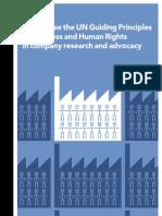 Cómo utilizar los Principios Rectores de la ONU de Derechos Humanos y Negocios en la compañía de investigación y de promoción