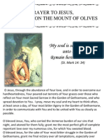 PRAYER TO JESUS,