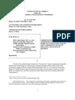 SEC LEGAL FILING AGAINST RTO AUDITORS