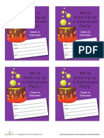 Witchy Halloween Invites Worksheet
