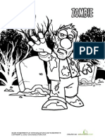 Zombie Coloring Page 2 1 Printable