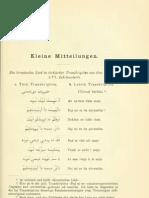 Chirvat türkisi. Ein kroatisches Lied in türkischer Transkription aus dem Ende des XVI. Jahrhunderts, Von Kraelitz, F., Archiv für slavische Philologie, 1911.