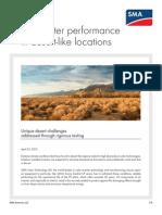 PV Inverter Performance Desert Locations