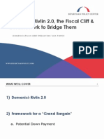 Domenici-Rivlin 2.0, the Fiscal Cliff & a Framework to Bridge Them