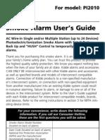 Kidde PI2010 Owners Manual