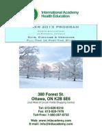 IAHE Winter 2013 Courses