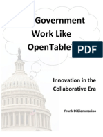 Can Government Work Like OpenTable?