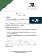 The Monarch Report 12.3.2012