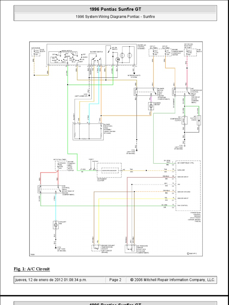 Pontiac Sunfire 1996 System Wiring Diagrams | Competiciones de ajedrez |  AjedrezScribd