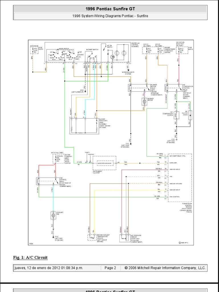 pontiac sunfire 1996 system wiring diagrams   competiciones de ajedrez    ajedrez  scribd