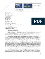 Western Mining Action Project letter to EPA re in situ uranium mining regulations