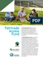 Brochure del Fairtrade Access Fund