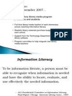 2008 Presentation to Winchester School Committee on Library Media Program Plan