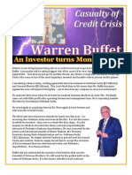 Warren Buffet - An Investor Turns Moneylender