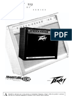 Peavey Bandit 112 (silverstripe / black box) users manual