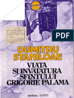 (Dumitru Staniloae Viata Si Invatatura Sfantului Grigorie Palama