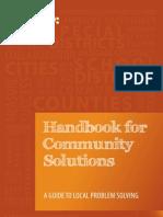Handbook for Community Solutions