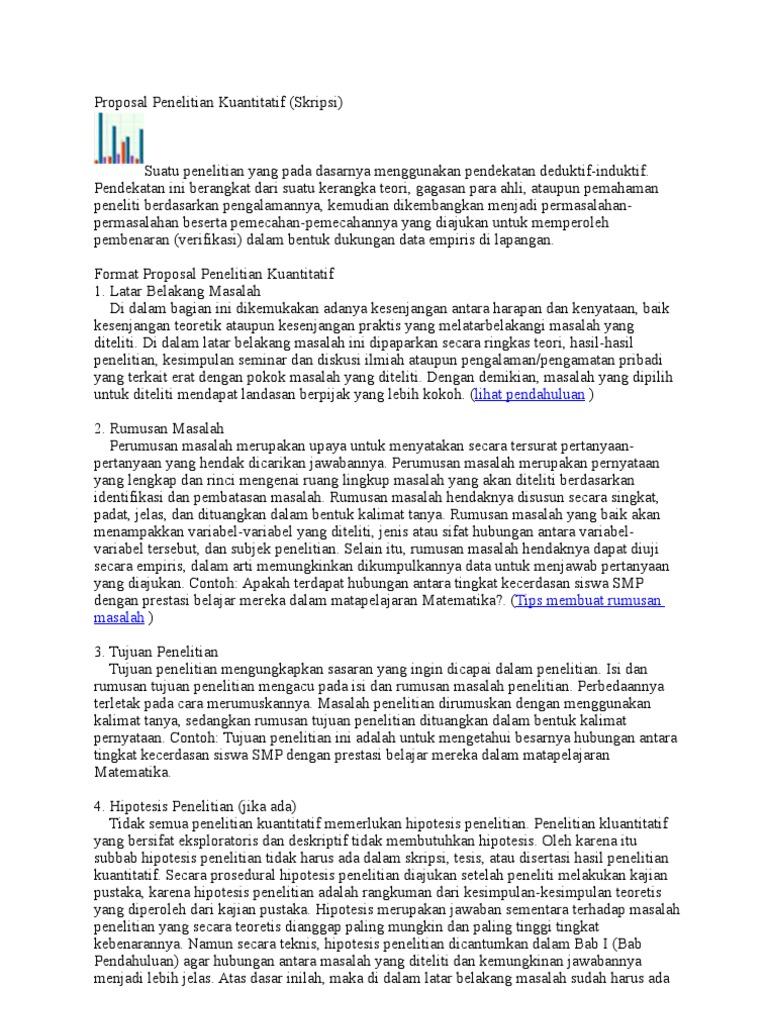 Proposal Penelitian Kuantitatif Format