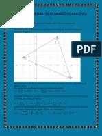 Problemas resueltos de geometría analítica