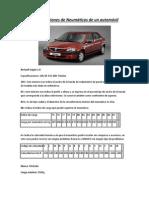 Especificaciones de Neumáticos de un automóvil