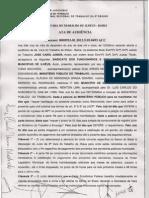 ACORDO FIRMADO ENTRE MPT E PREFEITURA