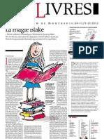 Supplément Le Monde des livres 2012.11.30