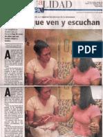 Sordoceguera (Panamá) -  Doris & la Maestra Laura Araba - MANOS QUE VEN Y ESCUCHAN ! ( ©El Panamá América epasa-2005)