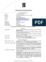 Curriculum Vitae Valeria Carletti