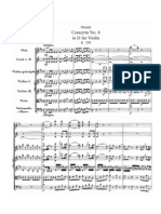 Violin Concerto No.4 in D, K.218 - Partitura Completa - Full Sheet Music - Score - W.a. Mozart