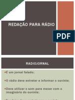 Redação para rádio-midia sonora
