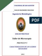GUIA DE PRACTICAS   Nº5   Aceros recocidos 2012 (1)
